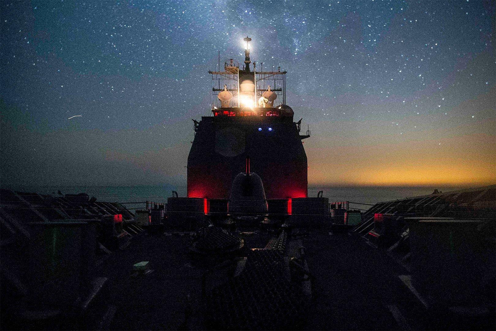 Naval Missle Cruiser Ship